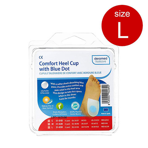DERAMED Footcare Comfort Heel Cup With Blue Dot