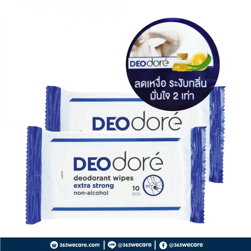 DEODORE deodorant Wipes Formen Extra Strong 10pcs.