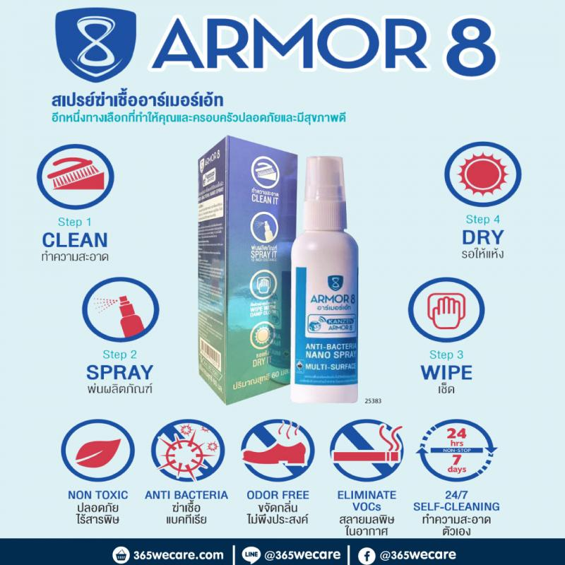ARMOR 8 Anti-Bacteria Nano Spray