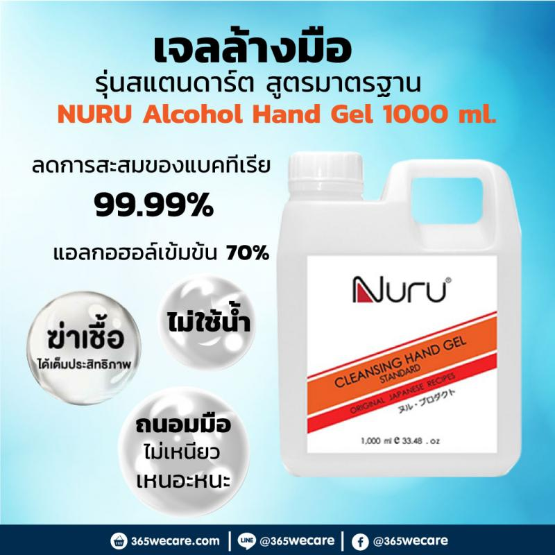NURU Alcohol Hand Gel 1000 ml.