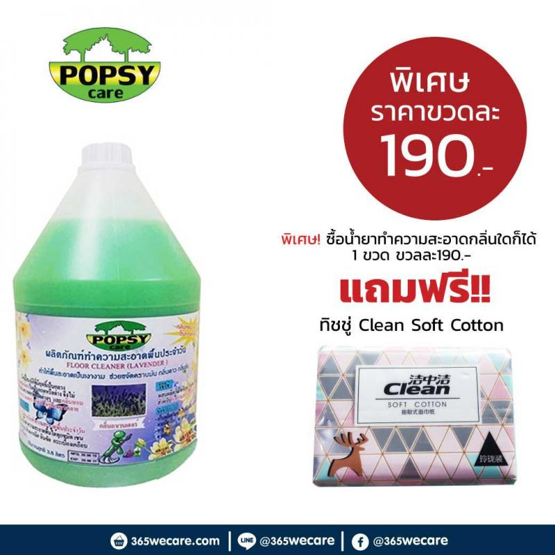POPSY Floor Cleaner (Citronella) 3.8ลิตร
