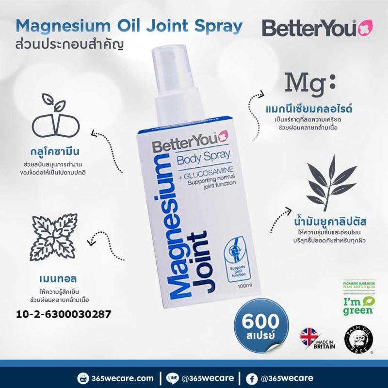 Better You Magnesium Joint Body Spray 100ml.