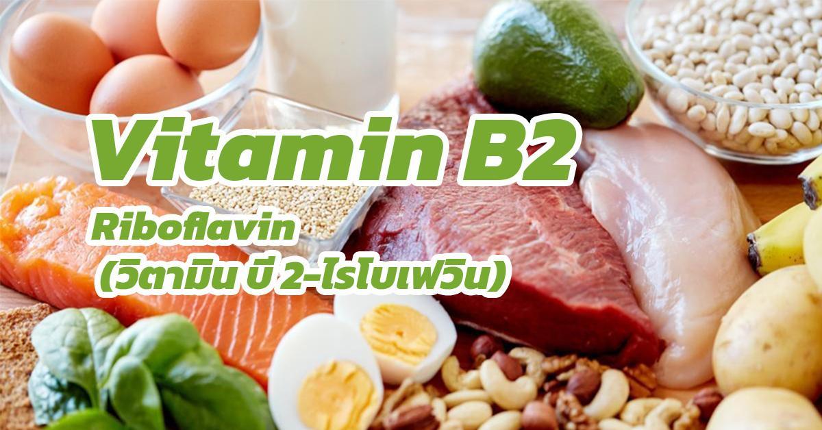 Vitamin B2-Riboflavin (วิตามิน บี 2-ไรโบเฟลวิน)